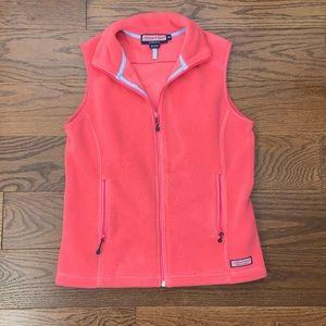 Vineyard Vines pink fleece vest